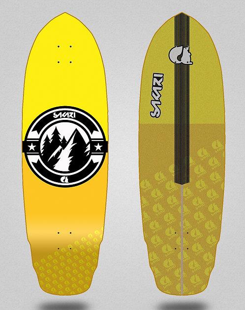 Sakari surfskate deck Downhill juice yellow 32 special