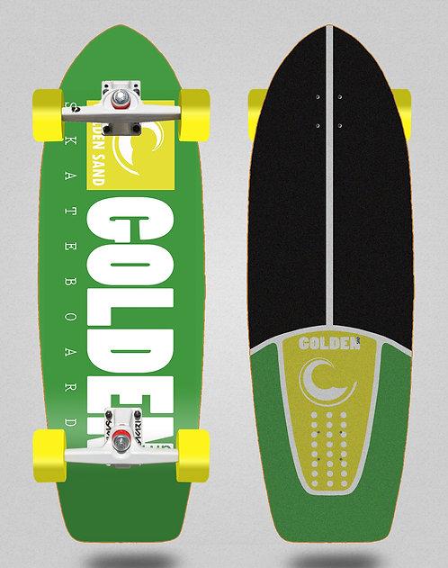 Golden Sand surfskate SGI trucks icon green white 29