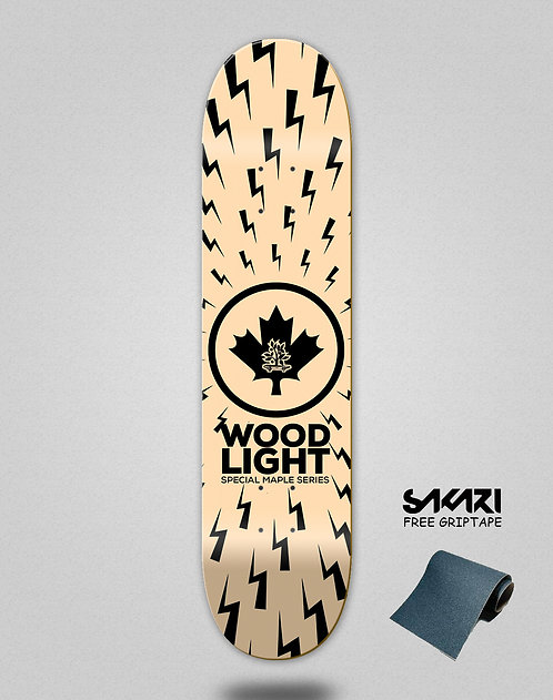 Wood light skate deck Maple series thunders wood