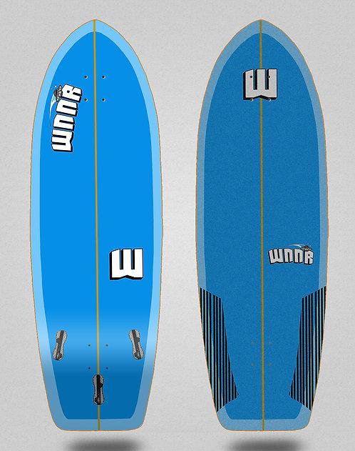 Wnnr surfskate deck Tulum blue 31