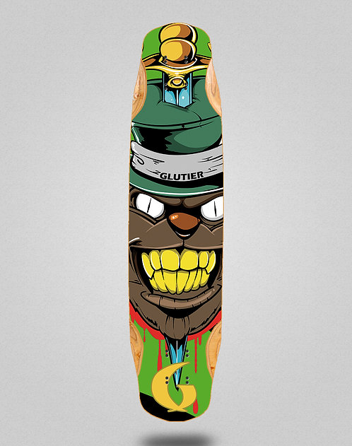 Glutier Gr cat green longboard deck 38x8.45