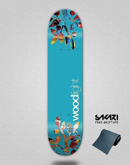 Wood light skate deck All type blue trees