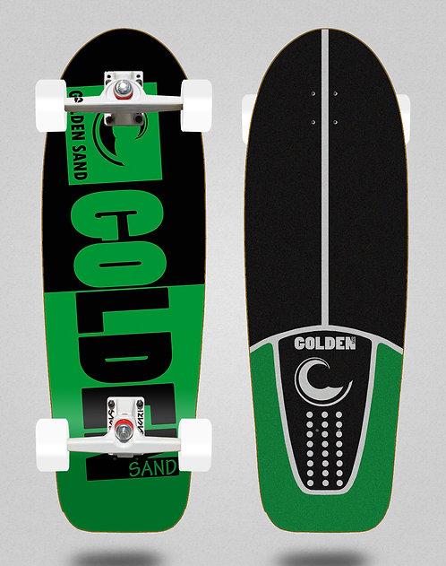 Golden Sand surfskate SGI Degraded tone black green 30,5
