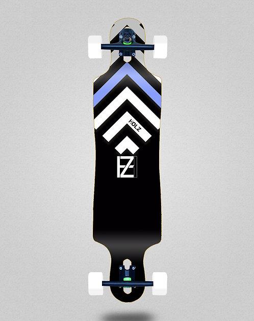 Holz Gram BW Akira black longboard complete 40x9