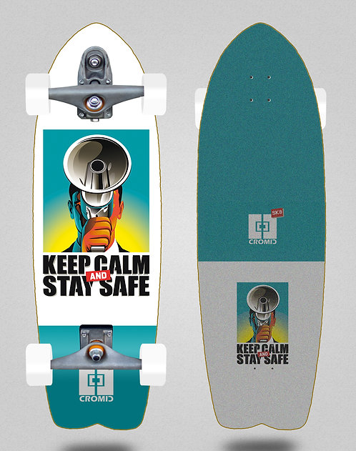 Cromic surfskate T12 trucks C19 Keep calm 29 fish