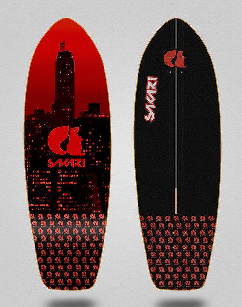 Sakari surfskate deck - City red 31