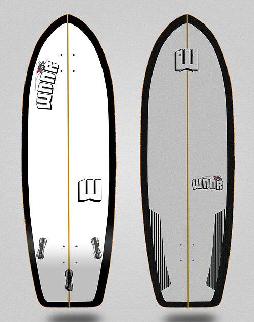 Wnnr surfskate deck Tulum white black 31
