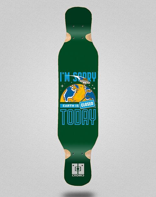 Cromic Covid Earth green longboard deck 46x10