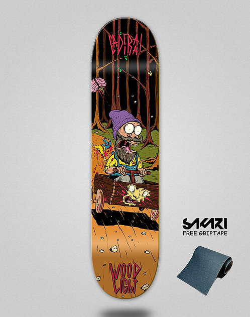 Wood light skate deck Ladeira series Barros