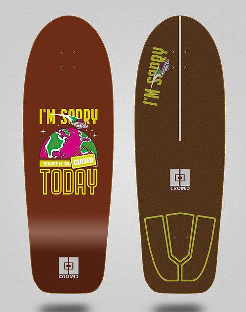 Cromic surfskate deck - Covid Earth brown 30,5