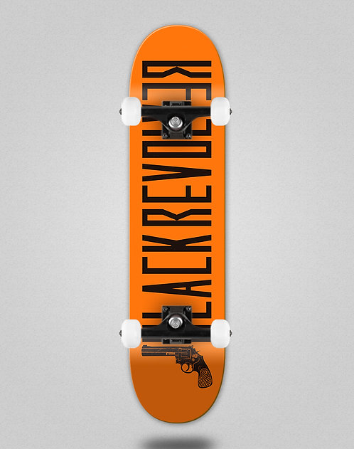 Black Revolver Color orange black skate complete