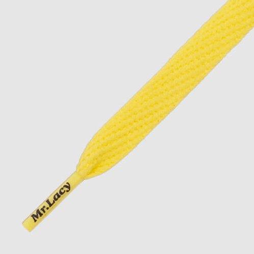Mr lacy - cordones Flatties yellow