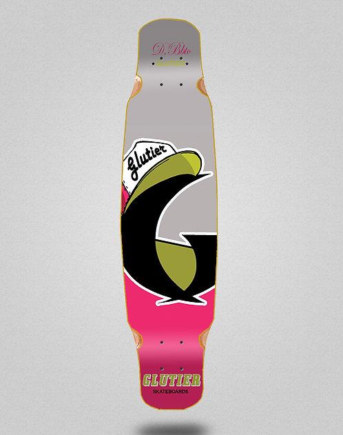 Glutier California pink longboard deck dance 46x9