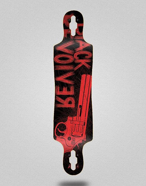 Black Revolver Big gun red black longboard deck 40x9