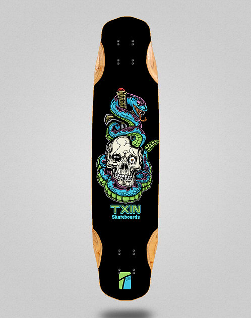 Txin Blue snake longboard deck 38x8.45