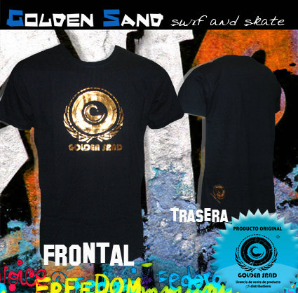 Golden Sand. T-shirt King blue bronze