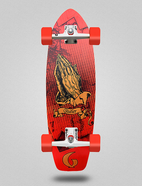 Glutier surfskate - Miracle red 31