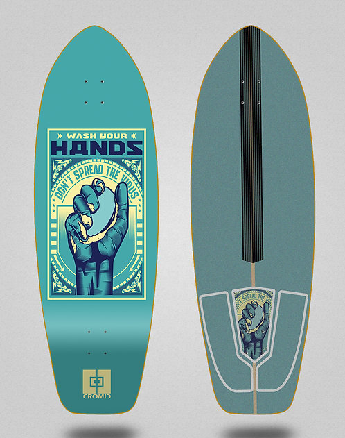 Cromic surfskate deck Covid Wash your hands 31