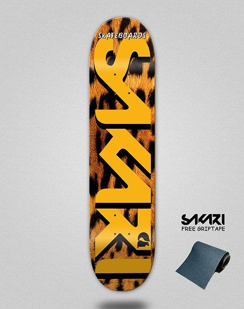 Sakari Leopard skate deck