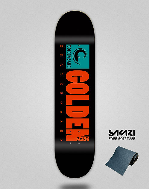 Golden Sand icon turquoise skate deck