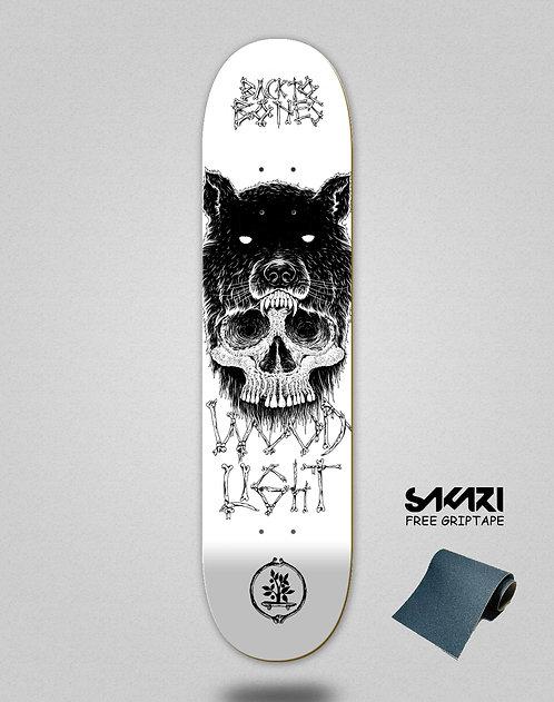 Wood light skate deck Back to bones Oliveira white