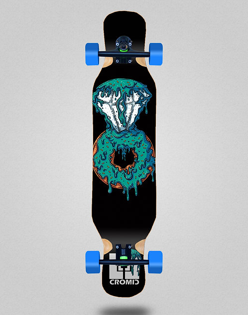 Cromic Donat blue longboard complete 46x10