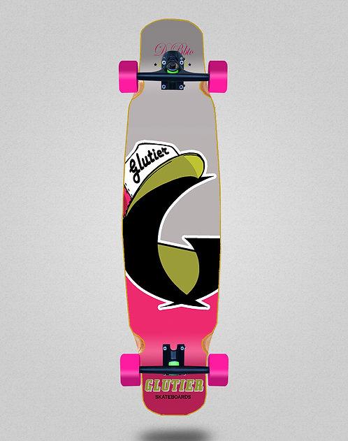 Glutier California pink longboard dance complete 46x9