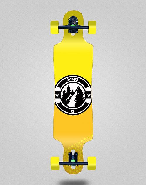 Sakari Downhill juice yellow longboard complete 40x9