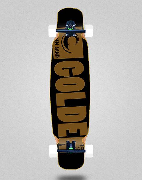 Golden Sand Degraded blk brwn longboard dance complete 46x9