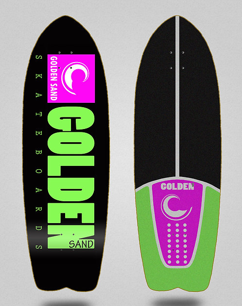 Golden Sand deck Icon black pink green 29 fish