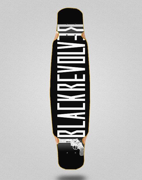Black Revolver Color black white longboard deck bamboo dance 46x9
