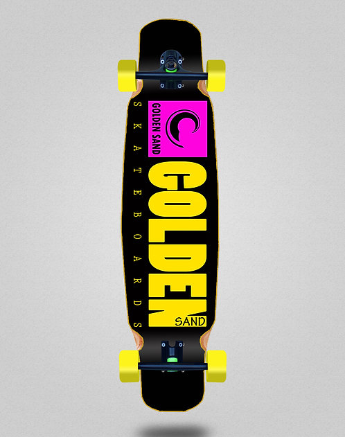 Golden Sand icon black pink yellow longboard dance complete 46x9