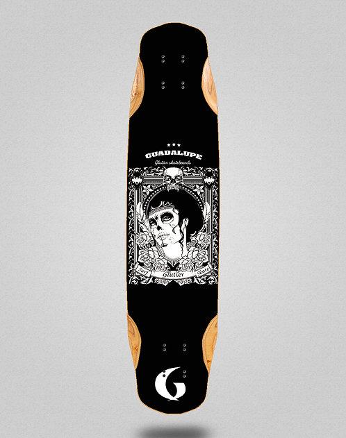 Glutier Guadalupe black longboard deck 38x8.45