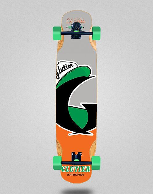 Glutier California orange longboard complete 38x8.45