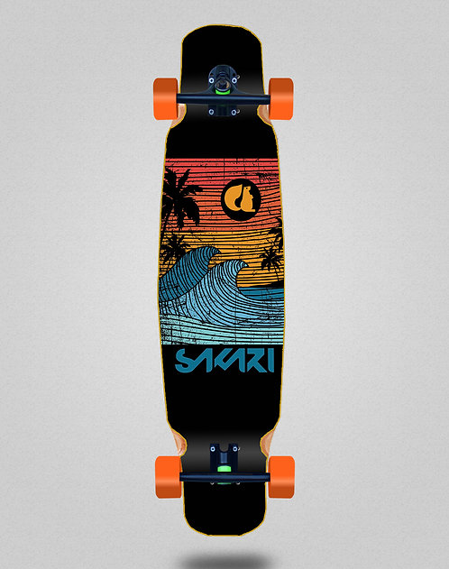 Sakari Cali dream orange longboard dance complete 46x9