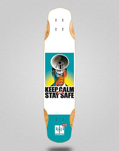 Cromic Covid Keep calm longboard deck 38x8.45