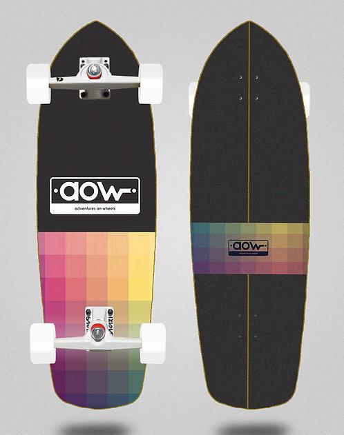 Aow surfskate SGI trucks Pixels black 34