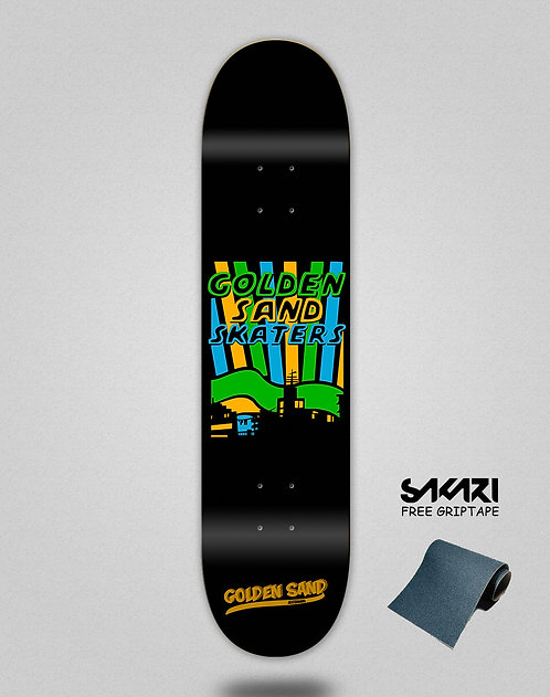 Golden Sand Skate city skate deck