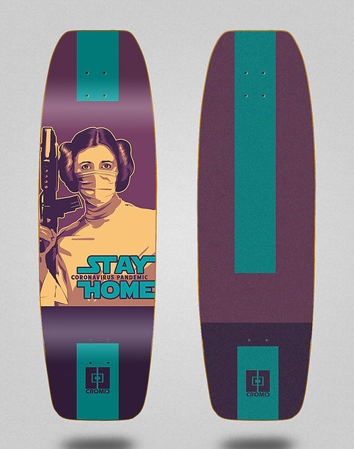 Cromic surfskate deck Covid Stay home 32 tail nose