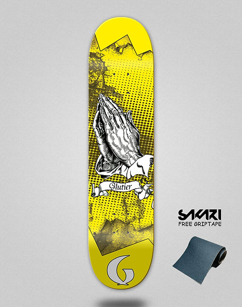 Glutier Miracle yellow skate deck