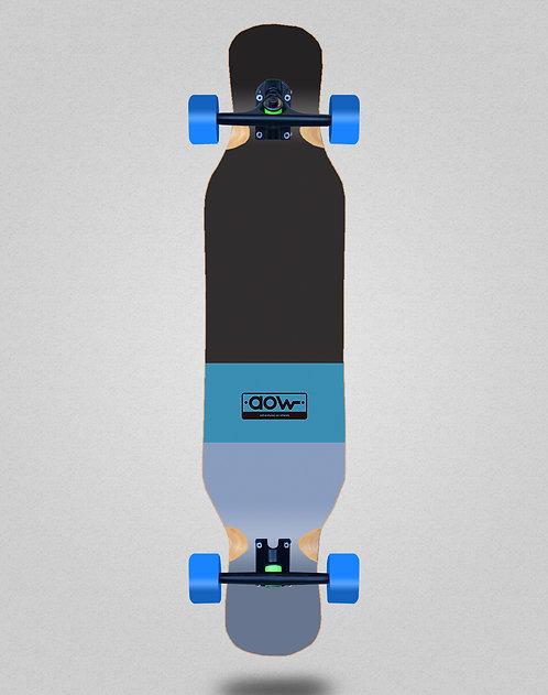 Aow Fastskate classic blue longboard complete 46x10