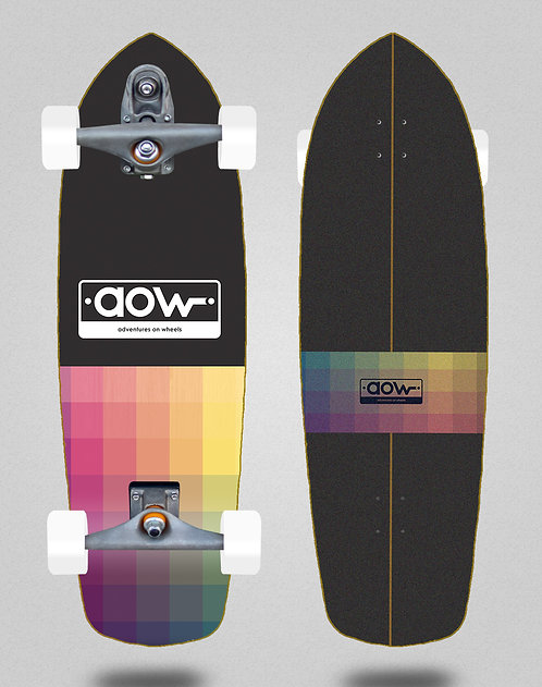 Aow surfskate T12 trucks Pixels black 34