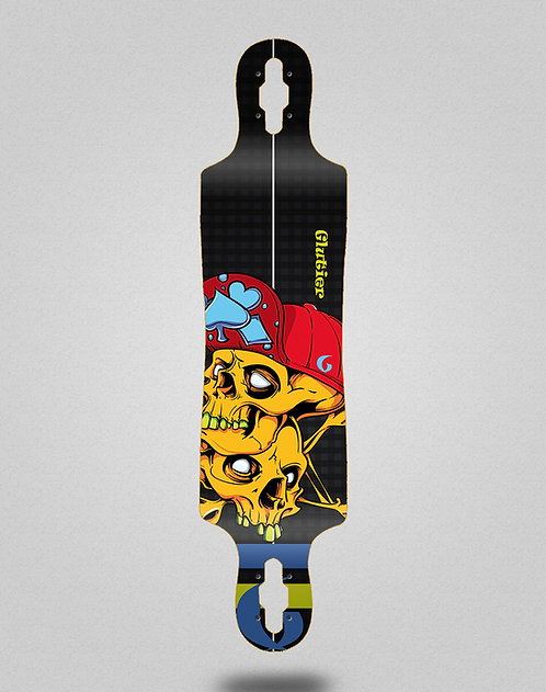 Glutier Hip skulls longboard deck 40x9