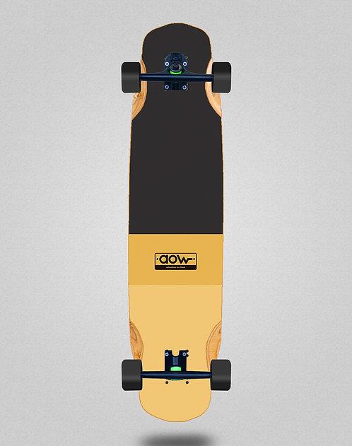 Aow Fastskate classic yellow longboard complete 38x8.45