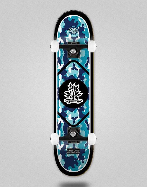 Wood light Camo black blue skate complete