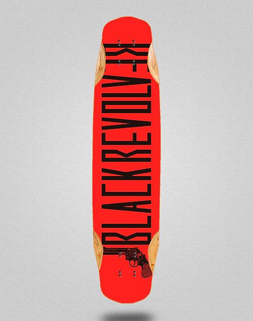 Black Revolver Color red longboard deck 38x8.45