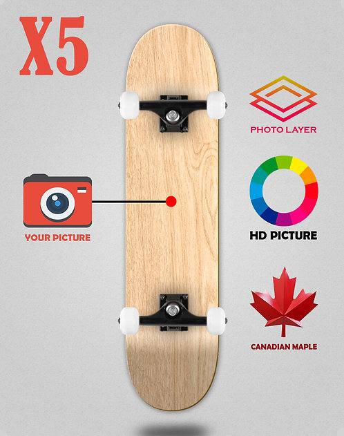 Personalizador skateboards completes X5 unidades