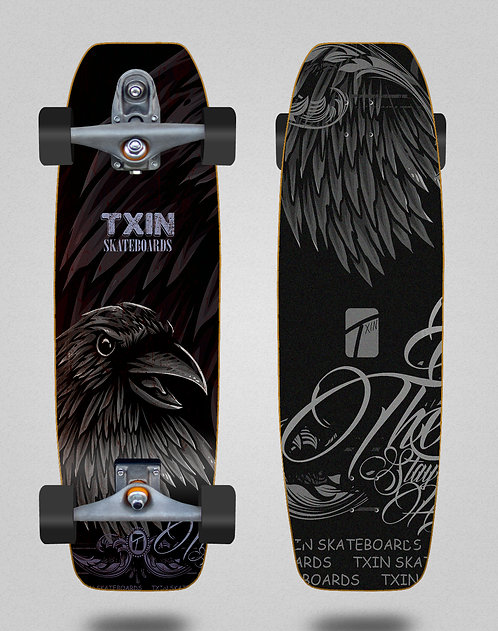 Txin surfskate - Crow 31.5 fat nose