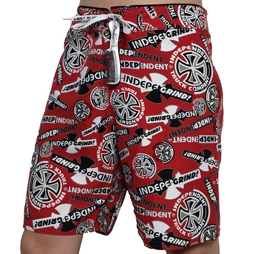Independent boardshort - Ripped red