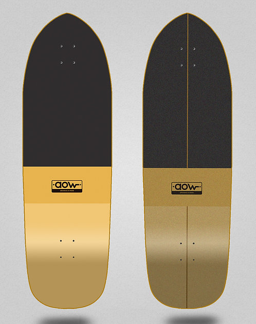 Aow surfskate deck Fastskate classic yellow 33.5